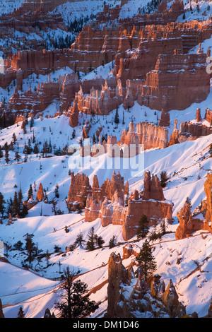 Les cheminées en hiver, Bryce Canyon, Utah, USA