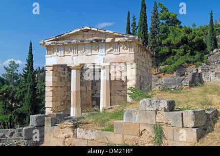 Trésor des Athéniens à Delphes oracle site archéologique en Grèce Banque D'Images