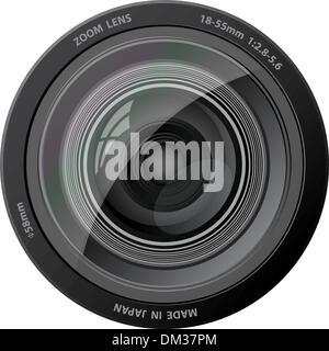 Vector L'objectif de la caméra. Banque D'Images