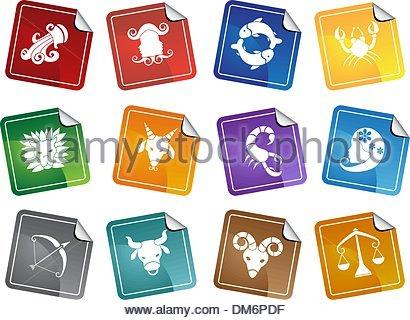 Signes du zodiaque Banque D'Images