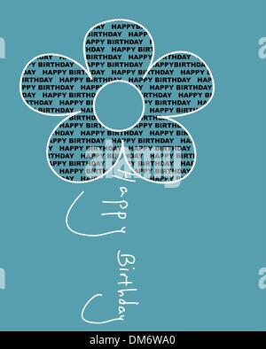 Joyeux anniversaire fleur Banque D'Images