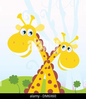 Deux girafes Banque D'Images