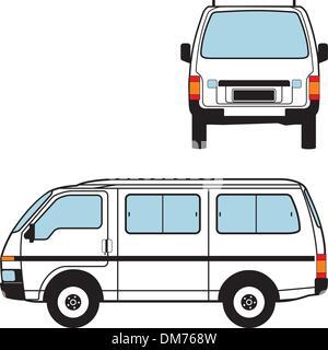 Location de minibus, Formes vectorielles Banque D'Images