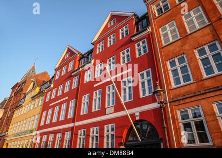 Façades colorées de Nyhavn à Copenhague, Danemark Banque D'Images