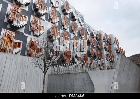 Détails architecturaux. Édifices du Parlement écossais. Holyrood. Édimbourg. UK. Banque D'Images