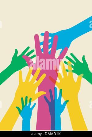 mains secourables Banque D'Images