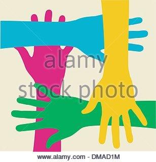 Équipe multicolore Banque D'Images