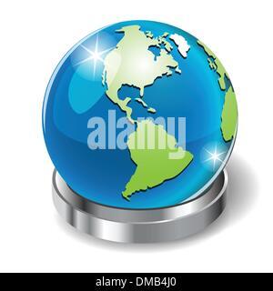 Globe sur pied Banque D'Images