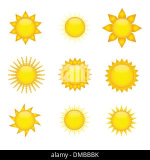 Icônes de soleil Banque D'Images