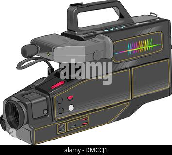 Caméra vidéo numérique professionnel Banque D'Images