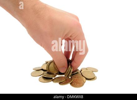 La main de l'homme en prenant des crédits Banque D'Images