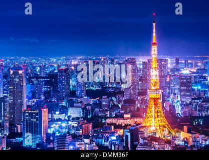 Tour de Tokyo à Tokyo, Japon. Banque D'Images