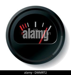 Niveau de carburant vecteur Banque D'Images