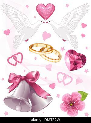 Art du mariage Banque D'Images