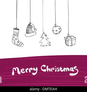 Joyeux Noël, cadeaux de l'illustration. Vector, EPS8. Banque D'Images