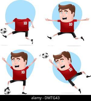 Joueur de football en actions Banque D'Images