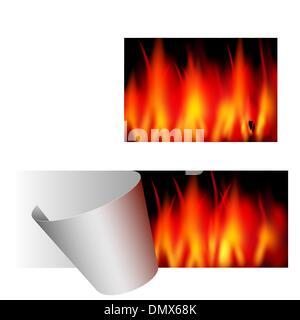 Feu vecteur sticker - grosse vente - Publicité Banque D'Images
