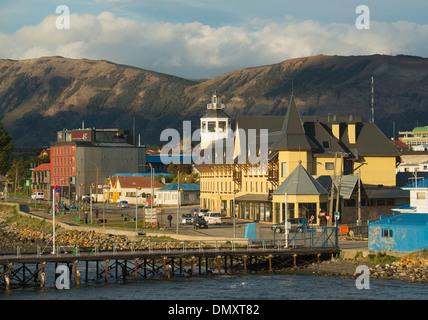 Puerto Natales, ville portuaire dans le Chili Patagonie Banque D'Images