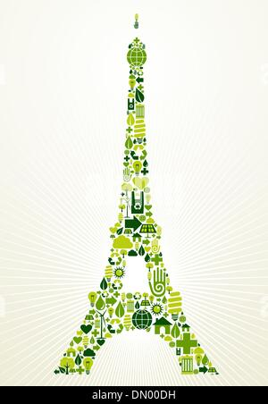 Paris Go Green concept illustration Banque D'Images