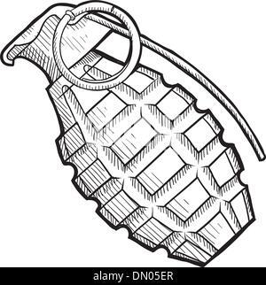 Grenade à main sketch Banque D'Images