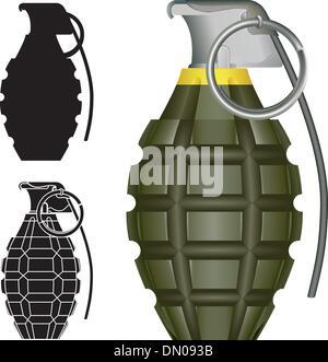 Vecteur grenade ananas Banque D'Images