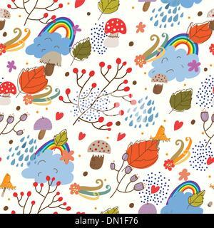 Seamless texture d'automne. Banque D'Images