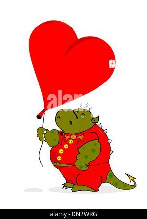 Dragon en amour Banque D'Images