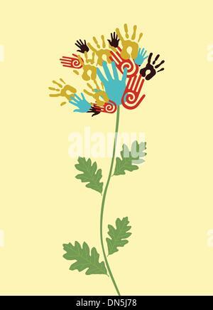 Concept de fleurs l'unité Banque D'Images