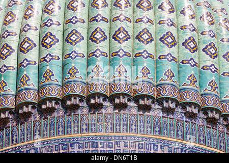 Une coupole de mosquée Bibi Khanym, également connu sous le nom de mosquée de Bibi-Khanum, Samarkand, Ouzbékistan Banque D'Images