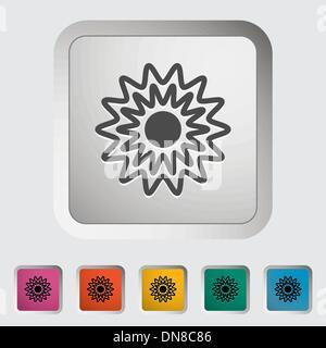 Icône de soleil Banque D'Images