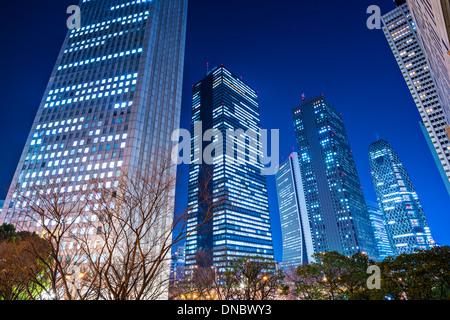 Shinjuku, Tokyo, Japon cityscape at night. Banque D'Images