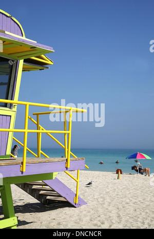 Miami (Floride, États-Unis) 2011: South Beach Banque D'Images