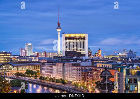 Paysage urbain de Berlin, Allemagne. Banque D'Images