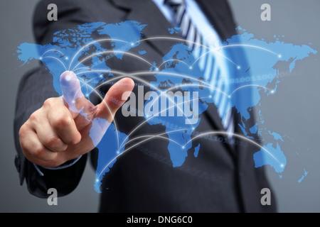 Réseau de communications mondial Banque D'Images