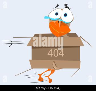 Représentation illustrative de Quack Quack Quack avec message d'erreur 404