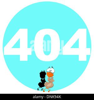 Représentation d'illustration de message d'erreur 404 avec 007 Canard Bond