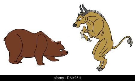 Représentation illustrative de Bull and Bear