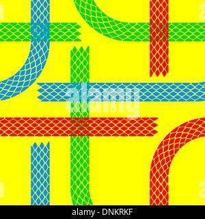 Papier peint sans traces de pneu pattern illustration vector background Banque D'Images