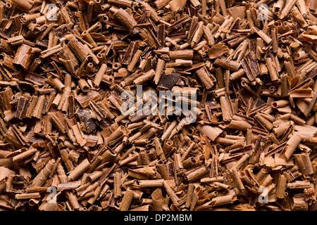 La texture des copeaux de chocolat au lait Banque D'Images