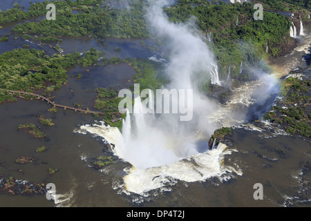 Vue aérienne d'Iguazu, Argentine, Banque D'Images