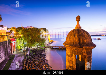 San Juan, Puerto Rico côte à Paseo de la Princesa.