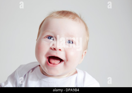 Baby Girl laughing Banque D'Images