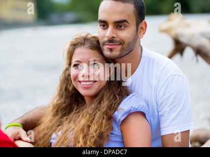 Portrait of mid adult couple en vacances Banque D'Images