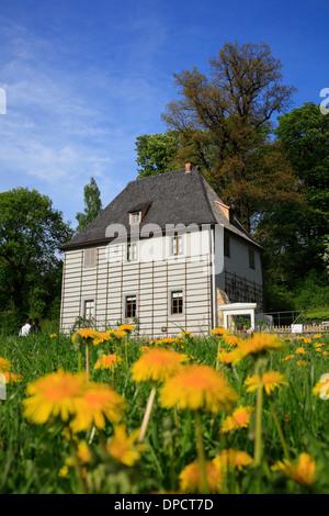 Goethe Garden House au parc Ilm, Weimar, Thuringe, Allemagne