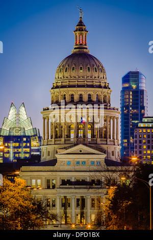 Le Texas State Capitol, situé dans le centre-ville d'Austin, Texas Banque D'Images