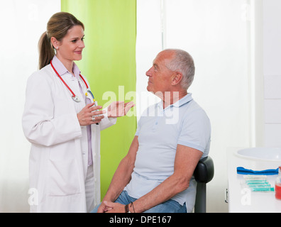 Boy senior male patient Banque D'Images