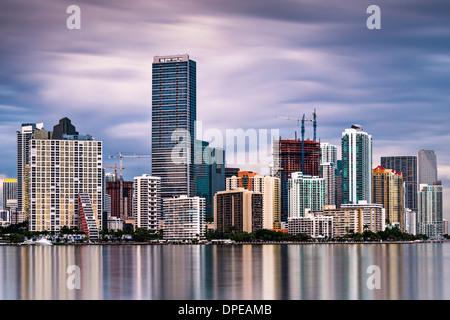 Horizon de Miami, Floride, USA. Banque D'Images