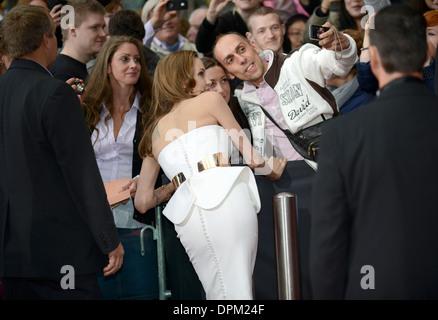 Angelina Jolie - première Allemande de 'World War Z' au CineStar à Potsdamer Platz, Berlin - 4 juin 2013 Banque D'Images