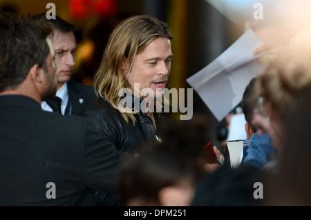 Brad Pitt - première Allemande de 'World War Z' au CineStar à Potsdamer Platz, Berlin - 4 juin 2013 Banque D'Images