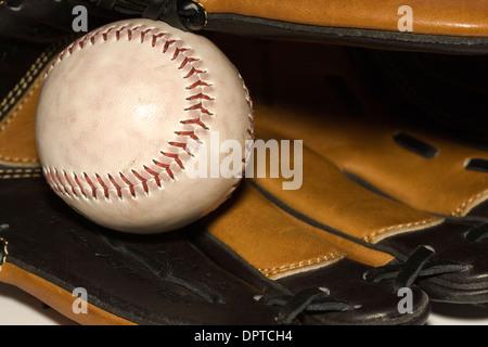 En baseball glove Banque D'Images